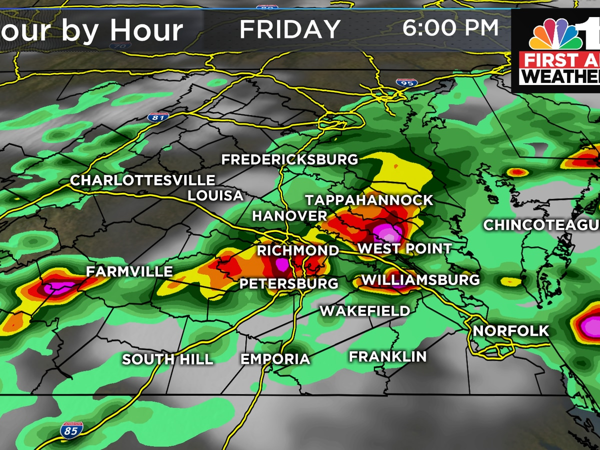 First Alert Weather Day: Severe Thunderstorm Watch issued for Central, Southern Virginia