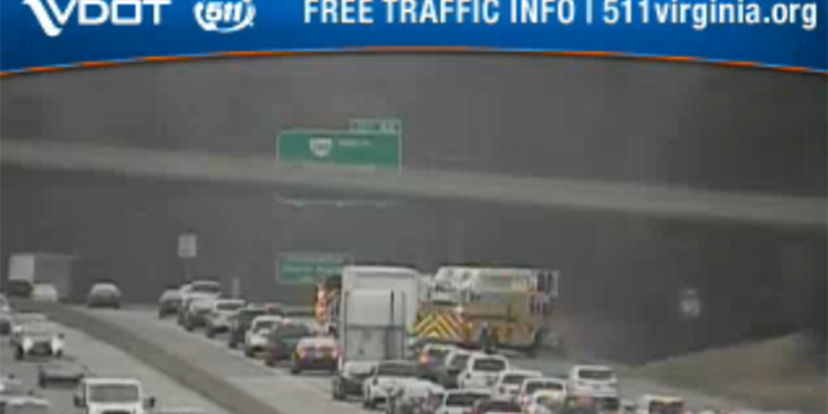Vehicle fire causes delays on I-95N near Route 10
