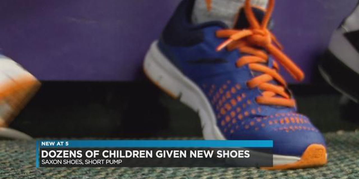 Dozens of kids receive new shoes