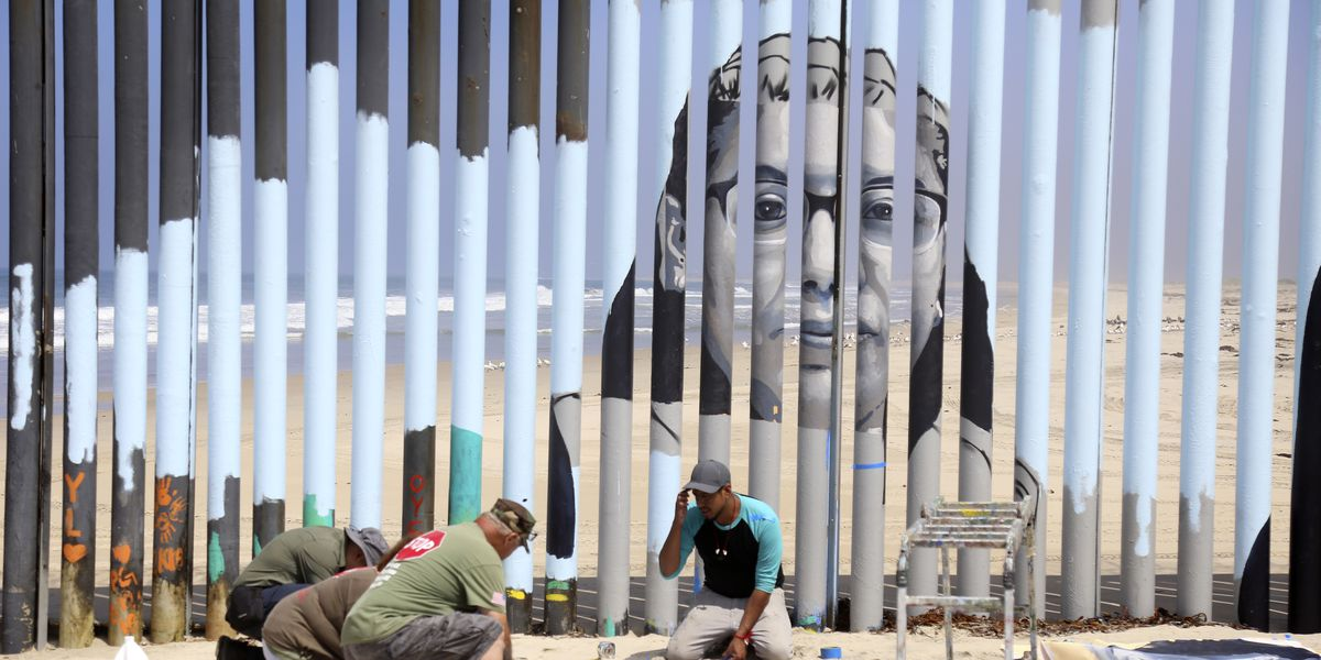 Interactive border wall mural tells stories of deported
