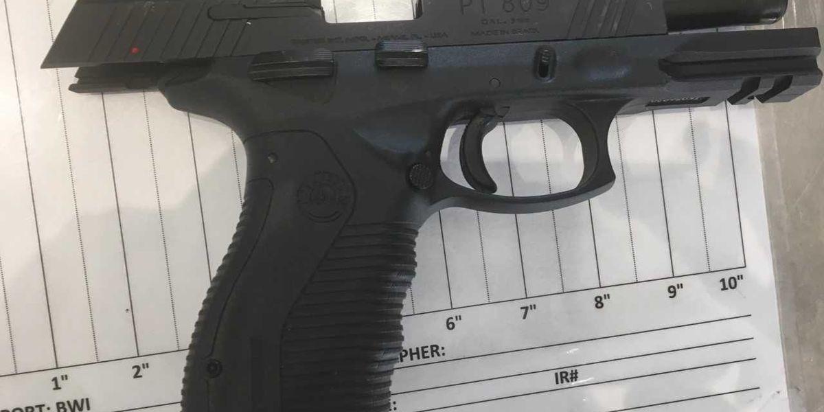 Virginia man caught with handgun at Baltimore int'l airport