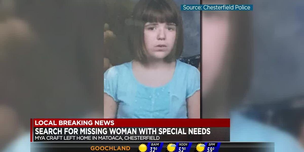 Woman with special needs missing in Chesterfield