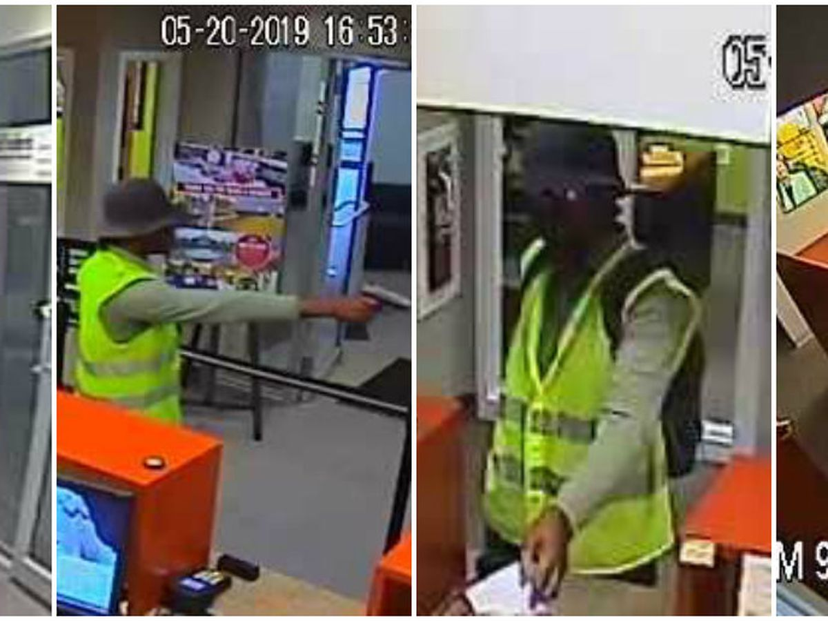 Police search for man who robbed bank at gunpoint wearing safety vest