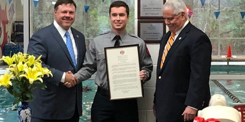 Hanover man recognized for using CPR to save boy's life