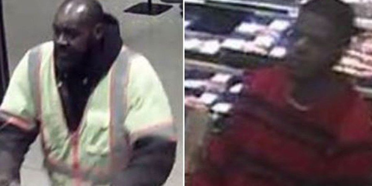 Men wanted for stealing crab meat from Wegmans