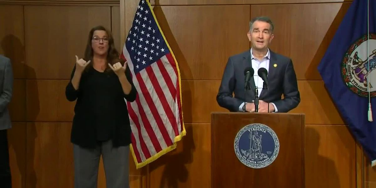 Northam: 2021 focus must be on pandemic relief for Virginians