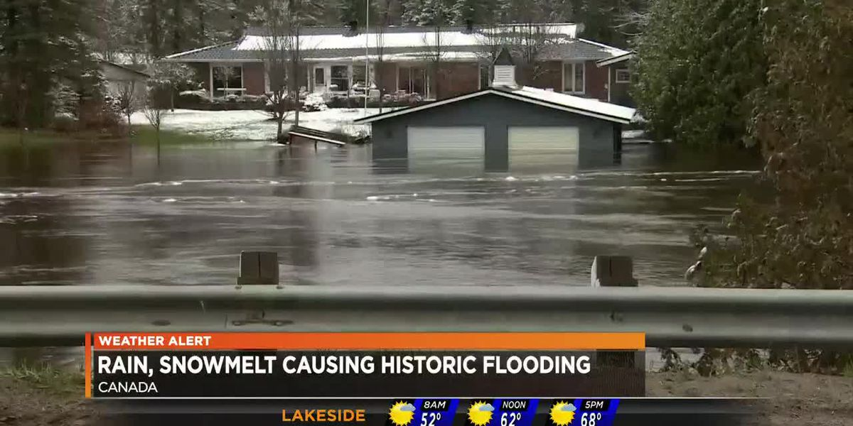Rain, snow melt cause historic flooding in Canada