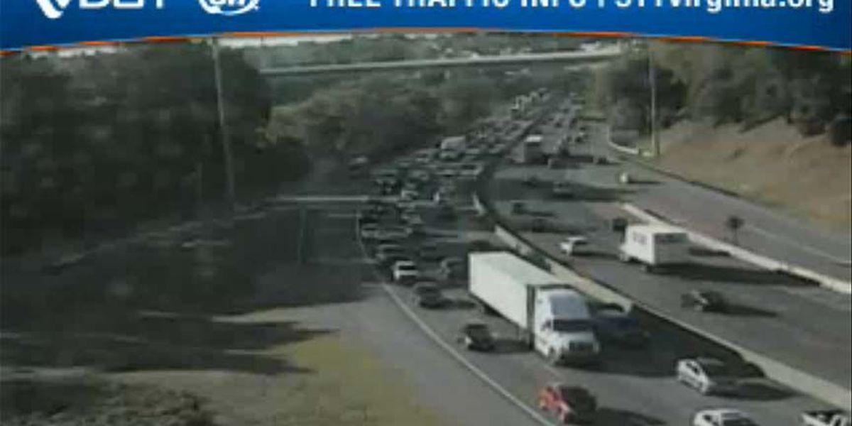 Backup clear after crash on I-95N in Richmond