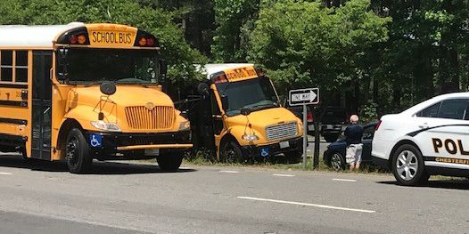 2 Chesterfield buses involved in separate crashes