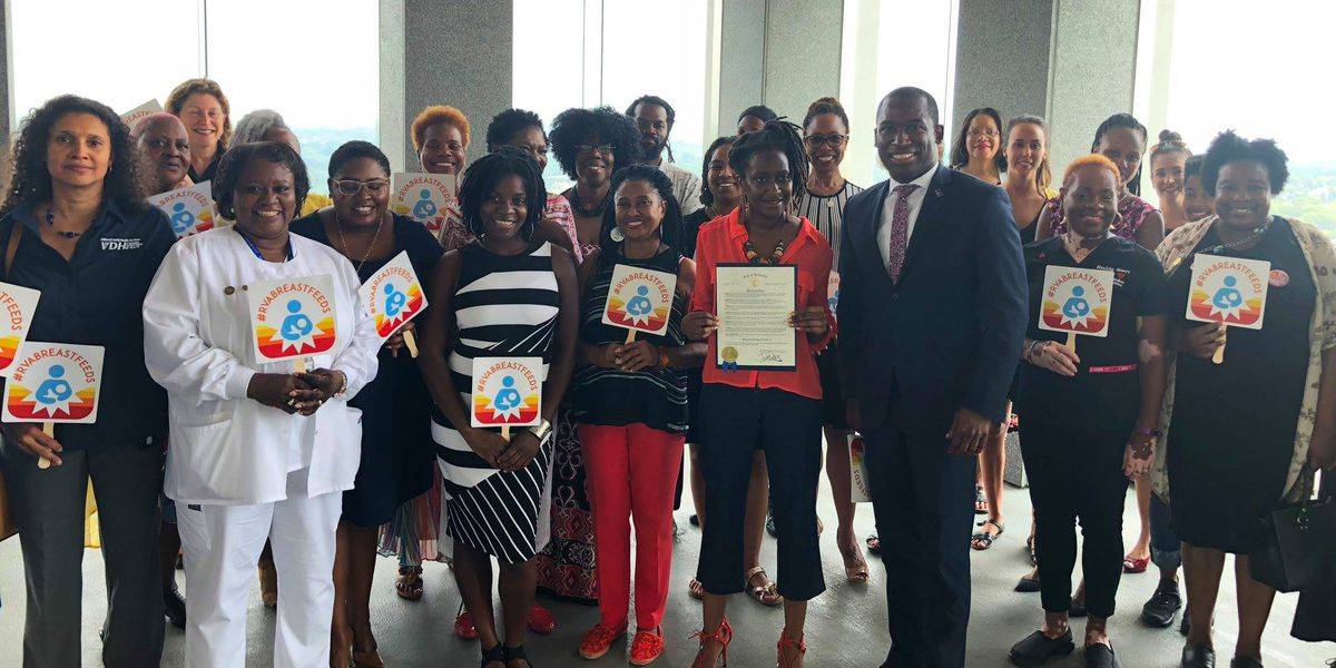 Mayor Stoney proclaims Black Breastfeeding Week RVA