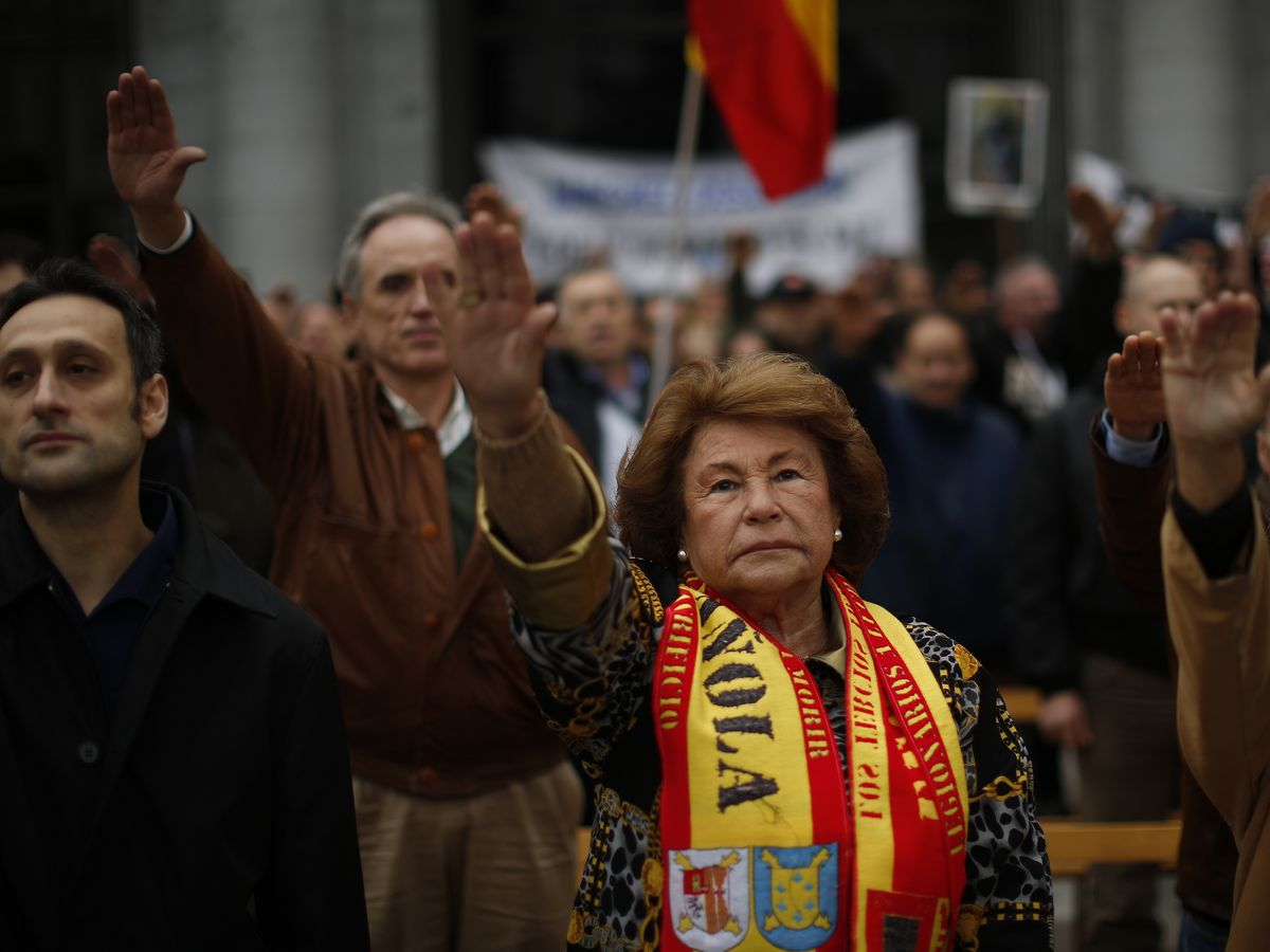Feminist activists interrupt Franco memorial event in Madrid