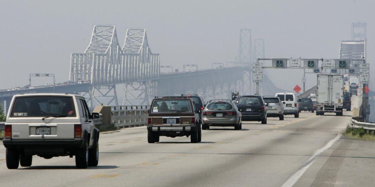 Lanes close as tollbooth removal begins on Chesapeake Bridge