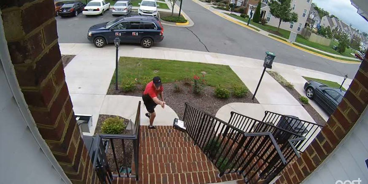 Home video shows delivery drivers throwing packages at Ashland home