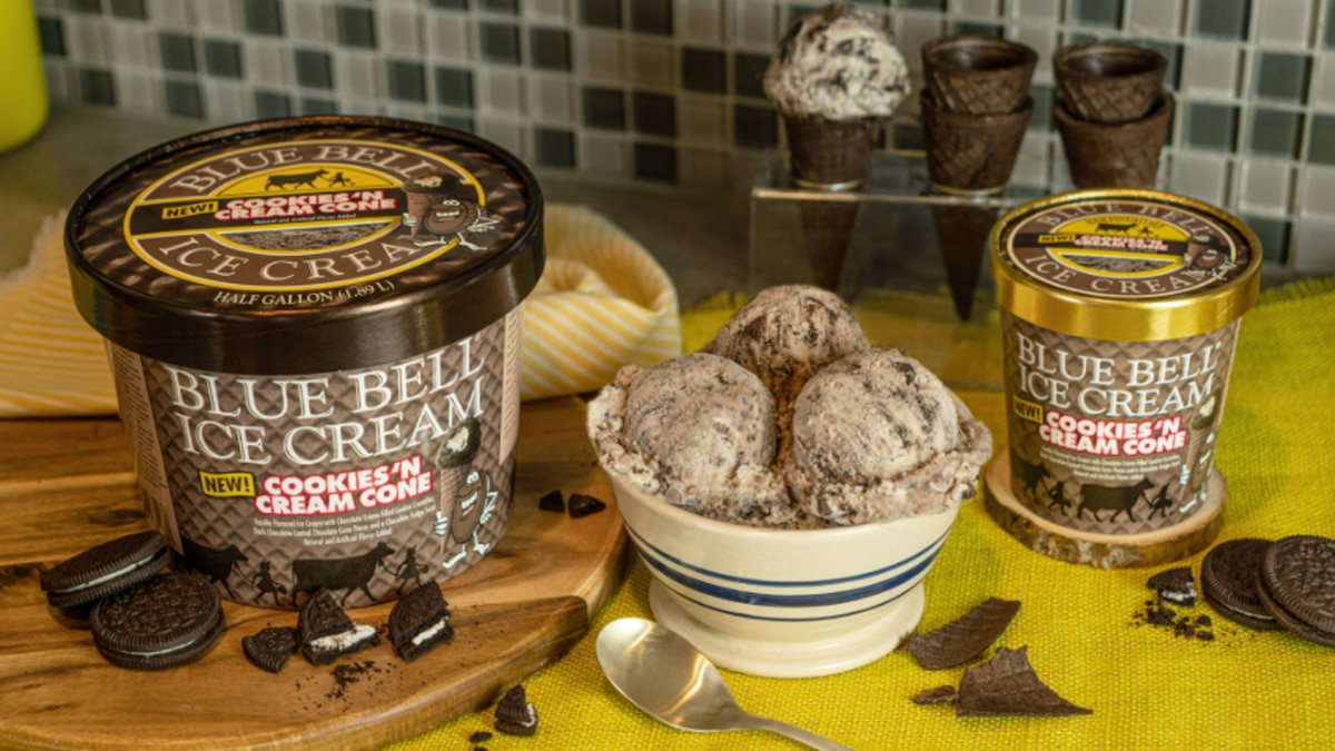 Blue Bell debuts new Cookies 'n Cream Cone flavor