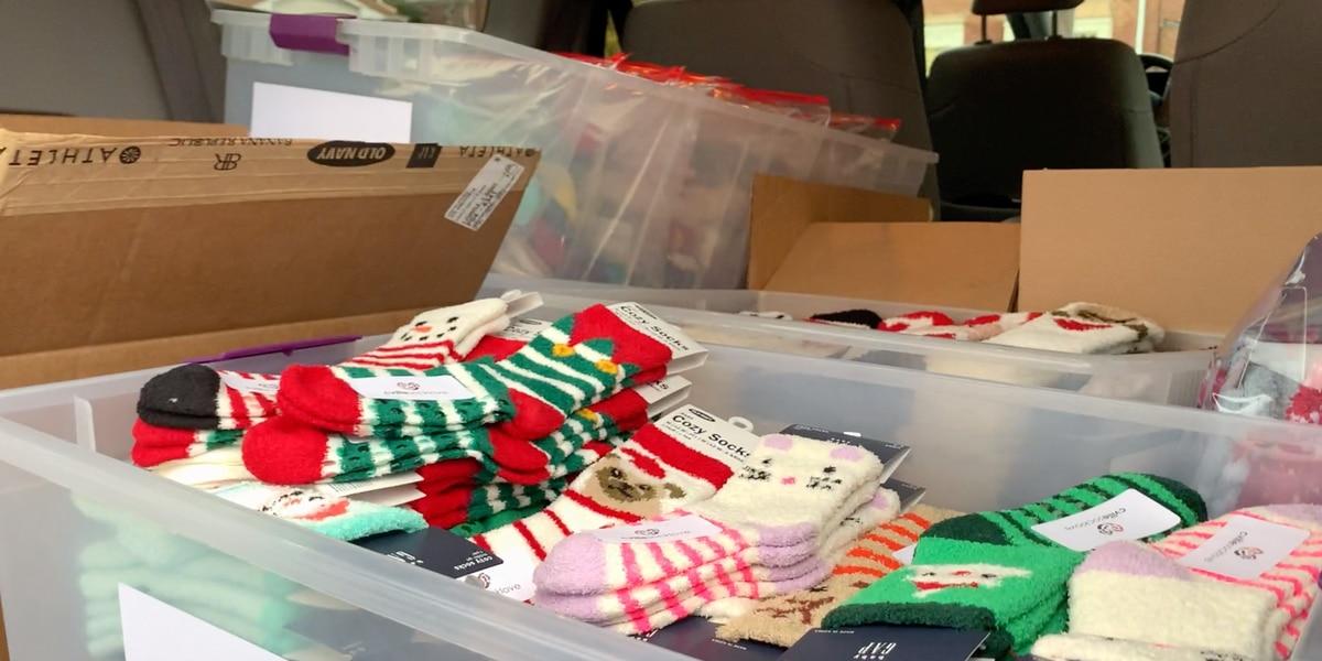 Charlottesville teens donating hundreds of socks to children's hospitals