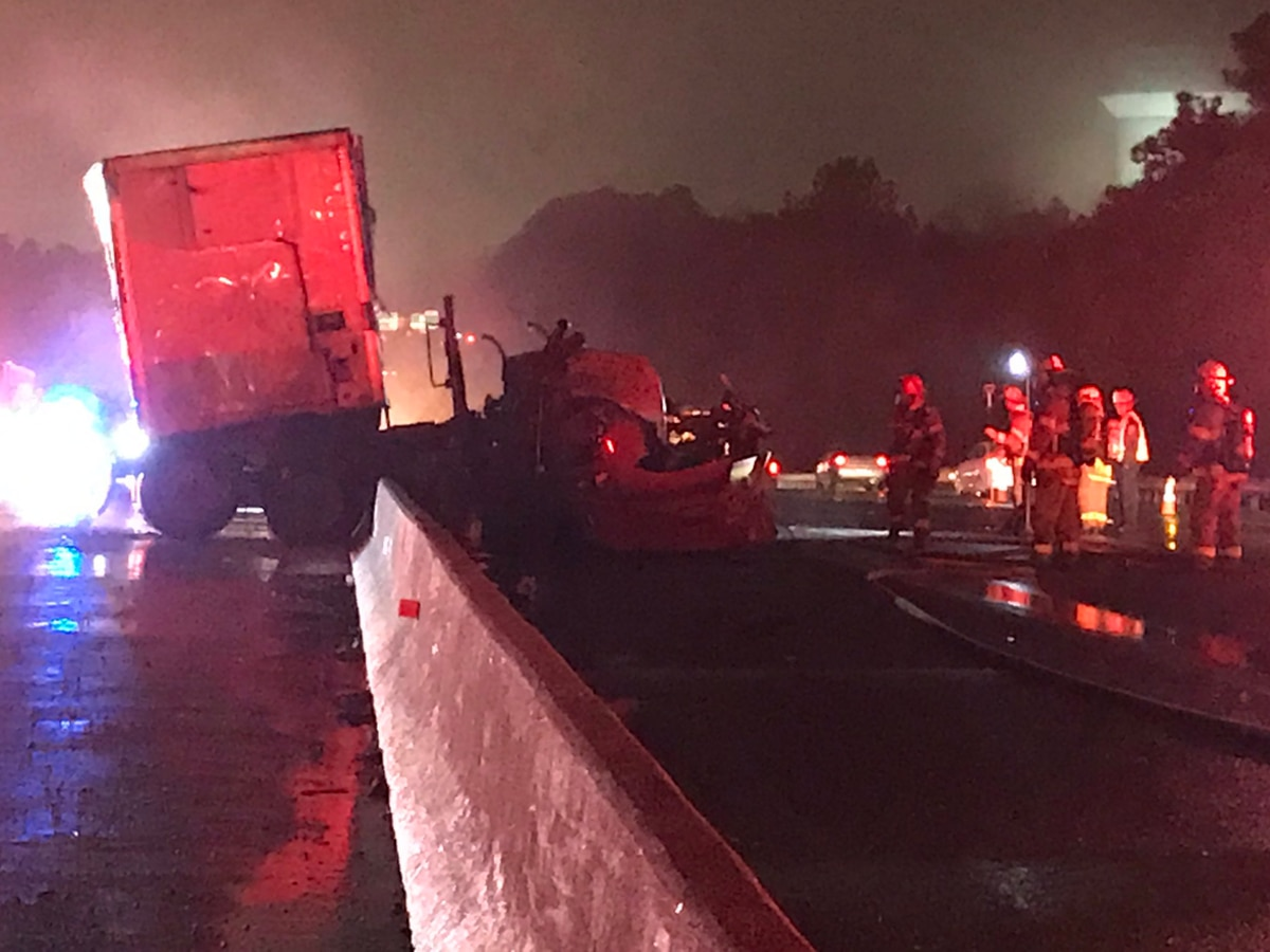 All lanes back open on I-95 following fiery tractor trailer crash
