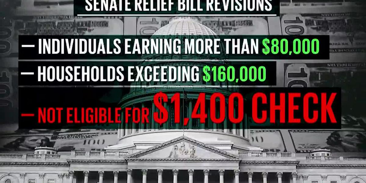Senate narrows eligibility for stimulus checks in COVID-19 relief bill