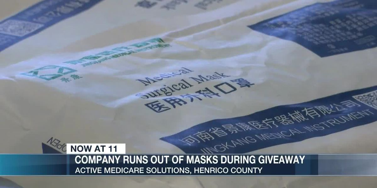 Company runs out of masks during giveaway