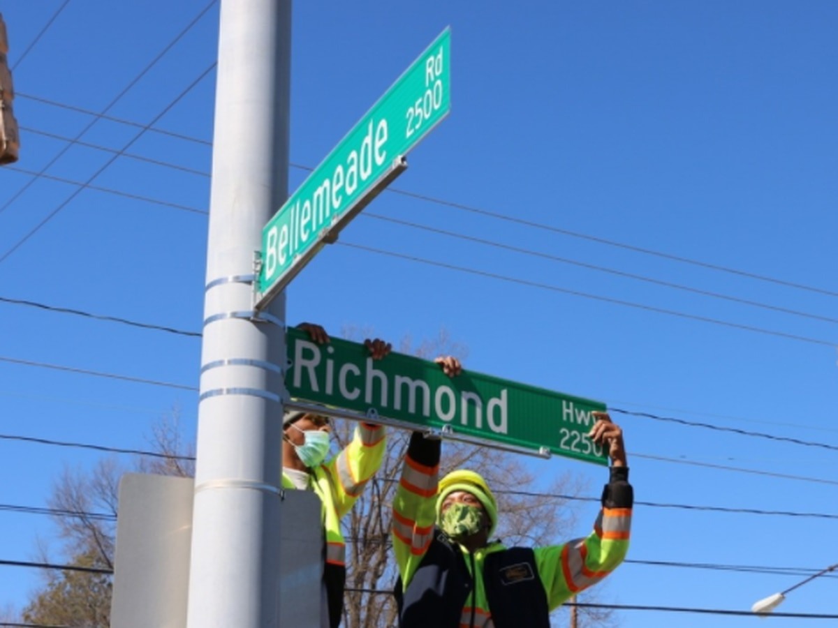Crews begin installing 'Richmond Highway' signage along U.S. Route 1