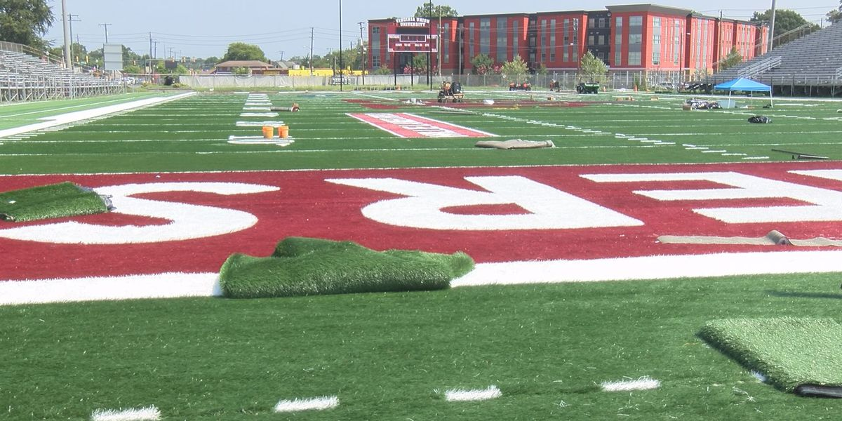 New turf field at Virginia Union nearing completion