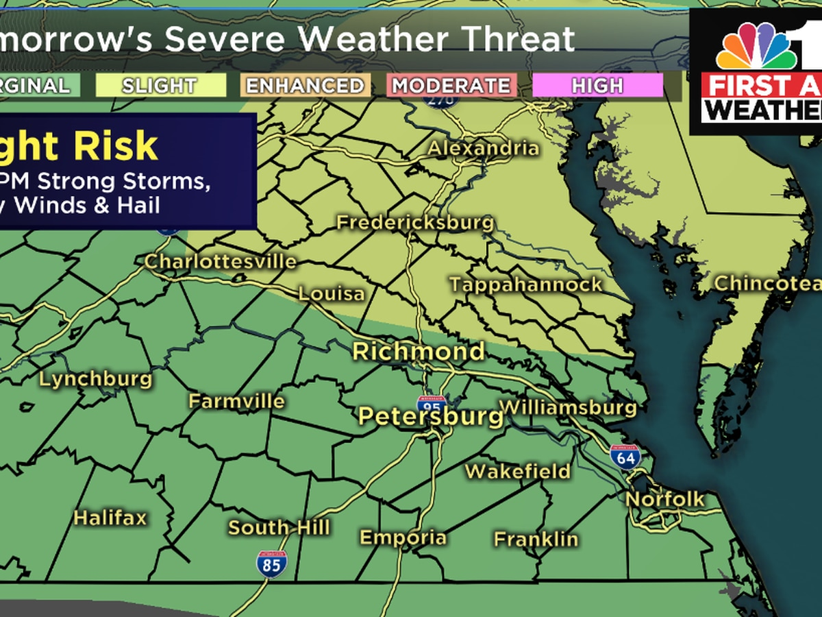 First Alert Weather Day Tuesday: Severe storms possible