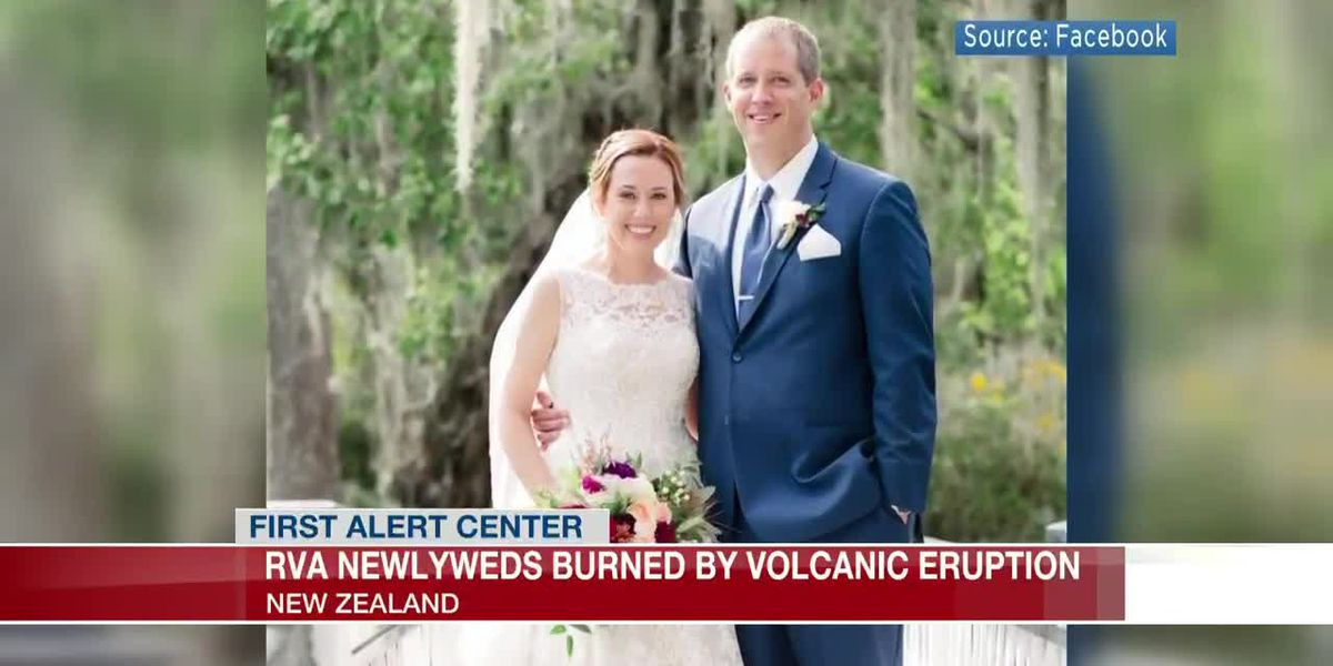Richmond couple burned by volcano