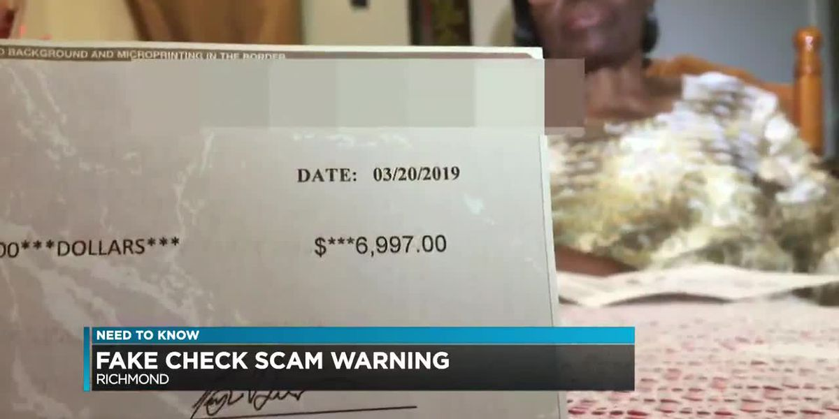 Woman warns of fake check scam