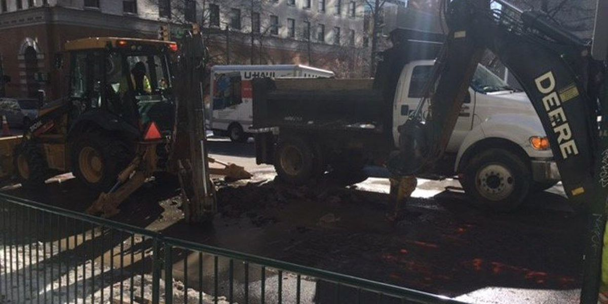 Water main break may impact traveling downtown