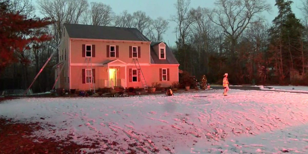 'Heavily-involved' house fire in Chesterfield under control