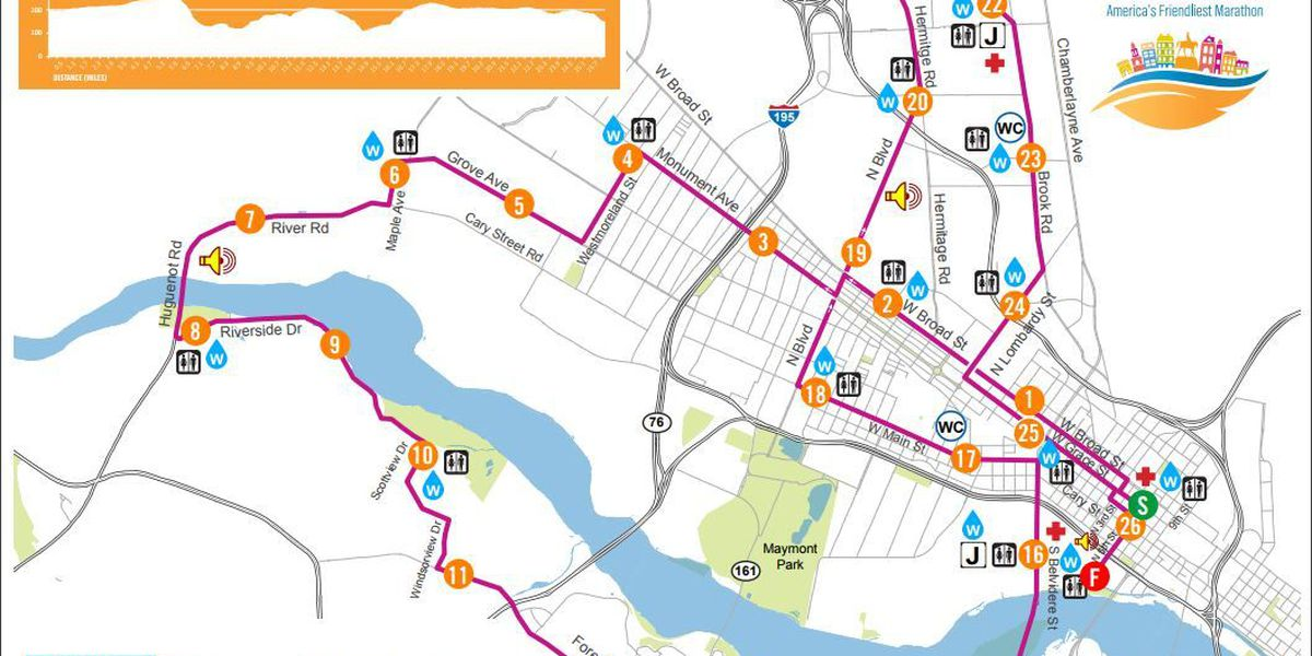 Road closures, no parking areas for Richmond Marathon