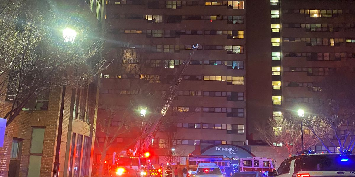 Richmond Fire battles blaze at Dominion Place apartments