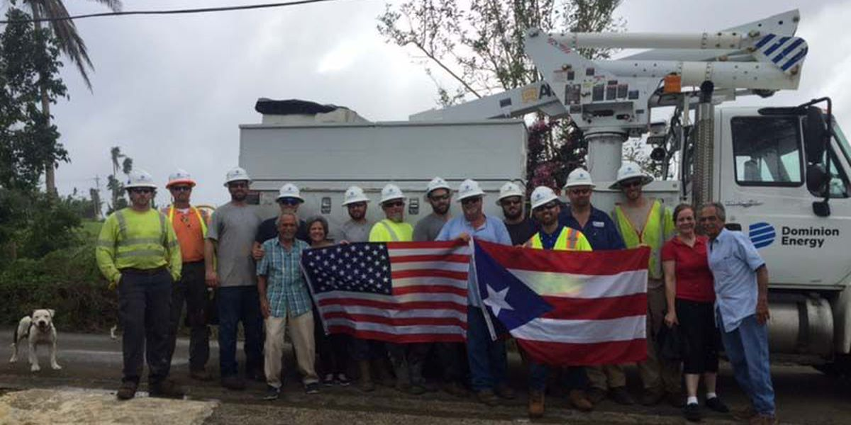 Dominion Energy crews return from Puerto Rico relief effort