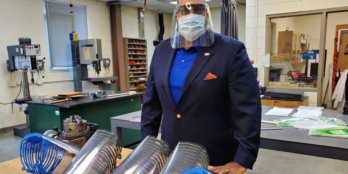 VSU makes, donates face shields to Southside Regional Medical Center