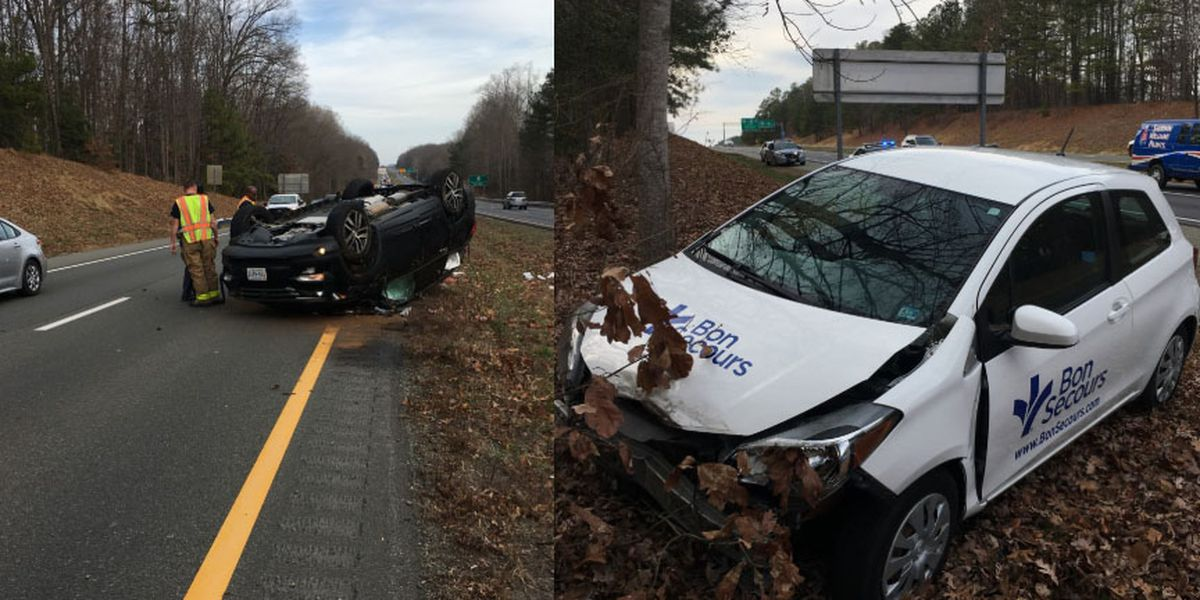 2 adults, 3 juveniles seriously injured in Chesterfield crash