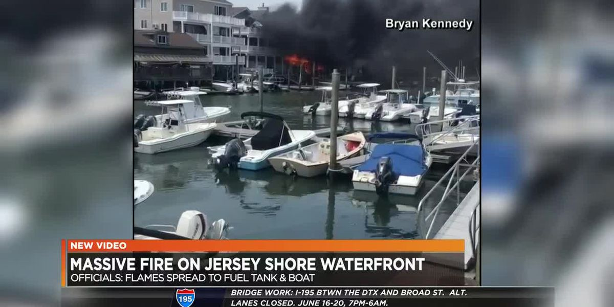 Massive fire on Jersey Shore Waterfront