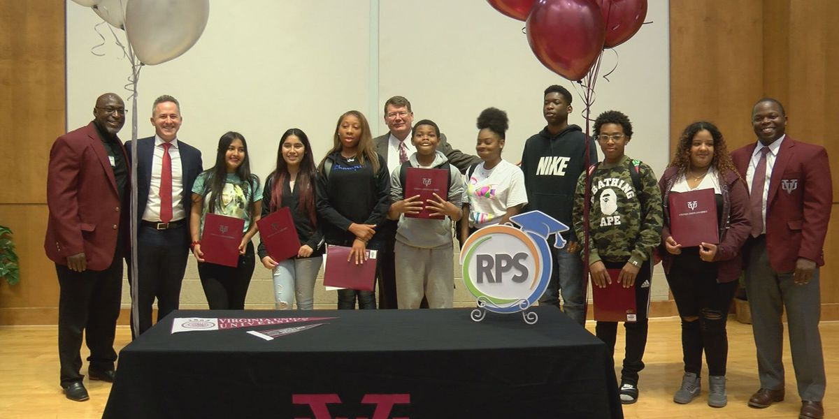 Richmond students surprised with full-ride scholarships to Virginia Union University