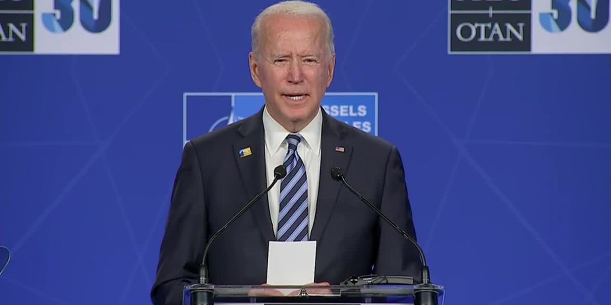 Biden meets with NATO, vows to draw line for Putin