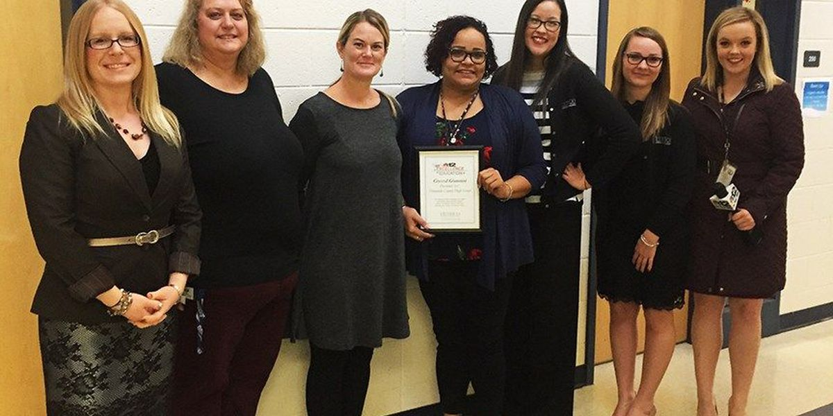 First-year teacher awarded for her love for teaching