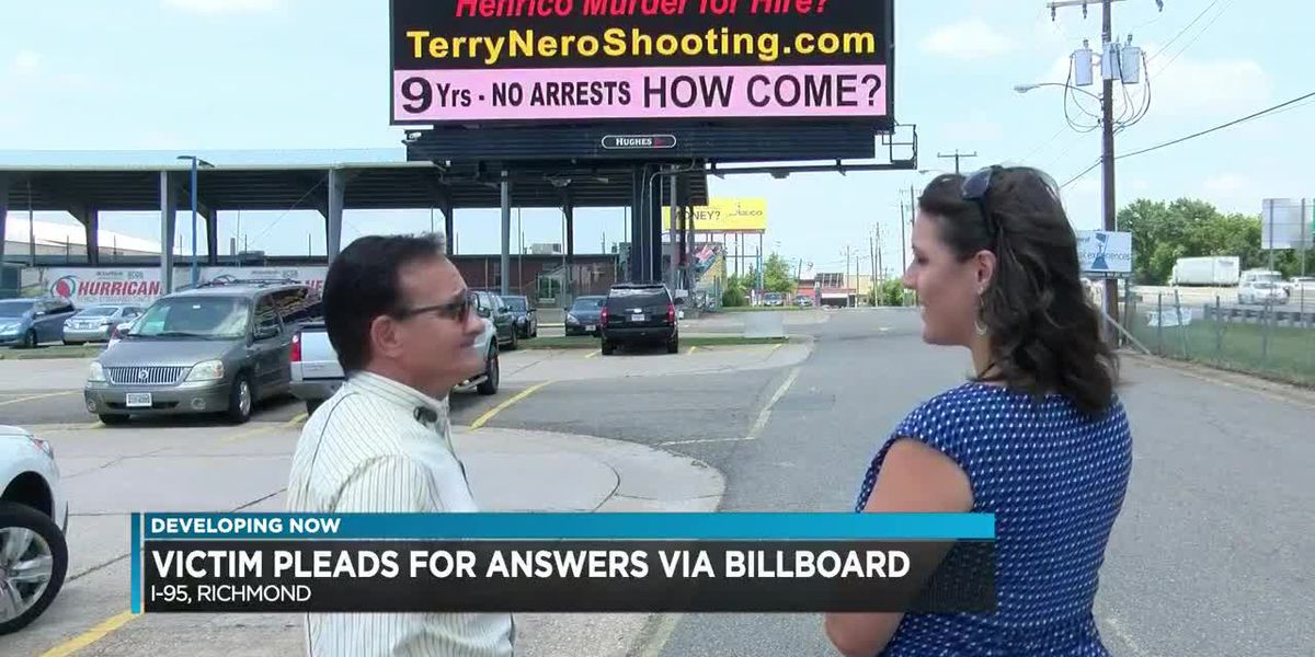 Victim shot in face pleads for answers using billboards