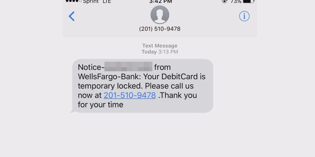 Wells Fargo text scam is making its rounds