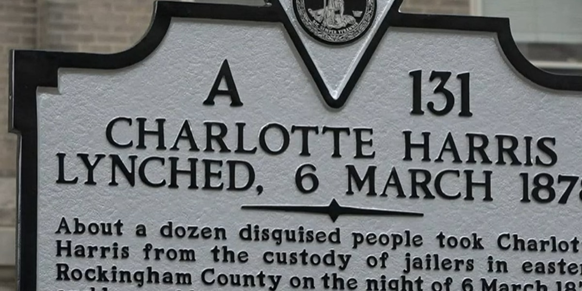 Charlotte Harris historical marker unveiled in Court Square