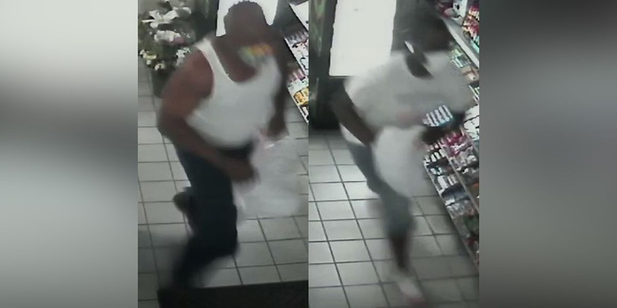 Police search for men suspected of stealing cigarettes from business