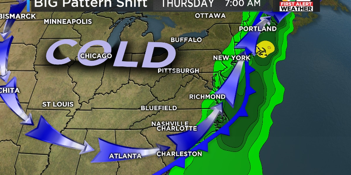First Alert: Next week's pattern change to COLD