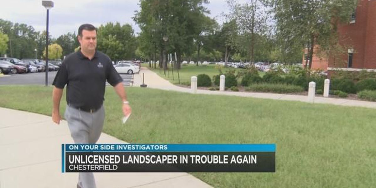 Chesterfield unlicensed landscaper is in trouble again