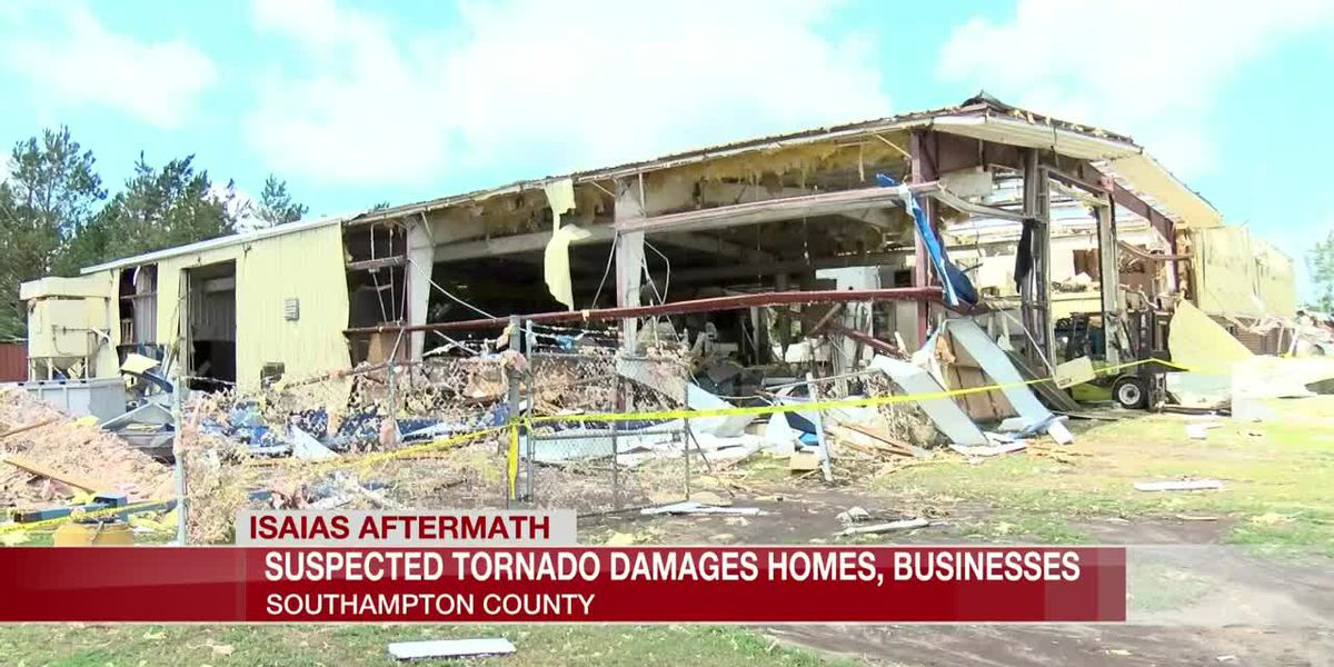 Suspected tornado damages homes, businesses