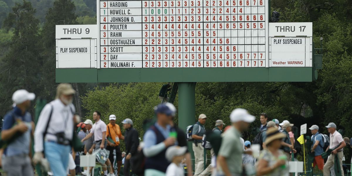 Masters moves up tee times due to threat of severe weather on Sunday