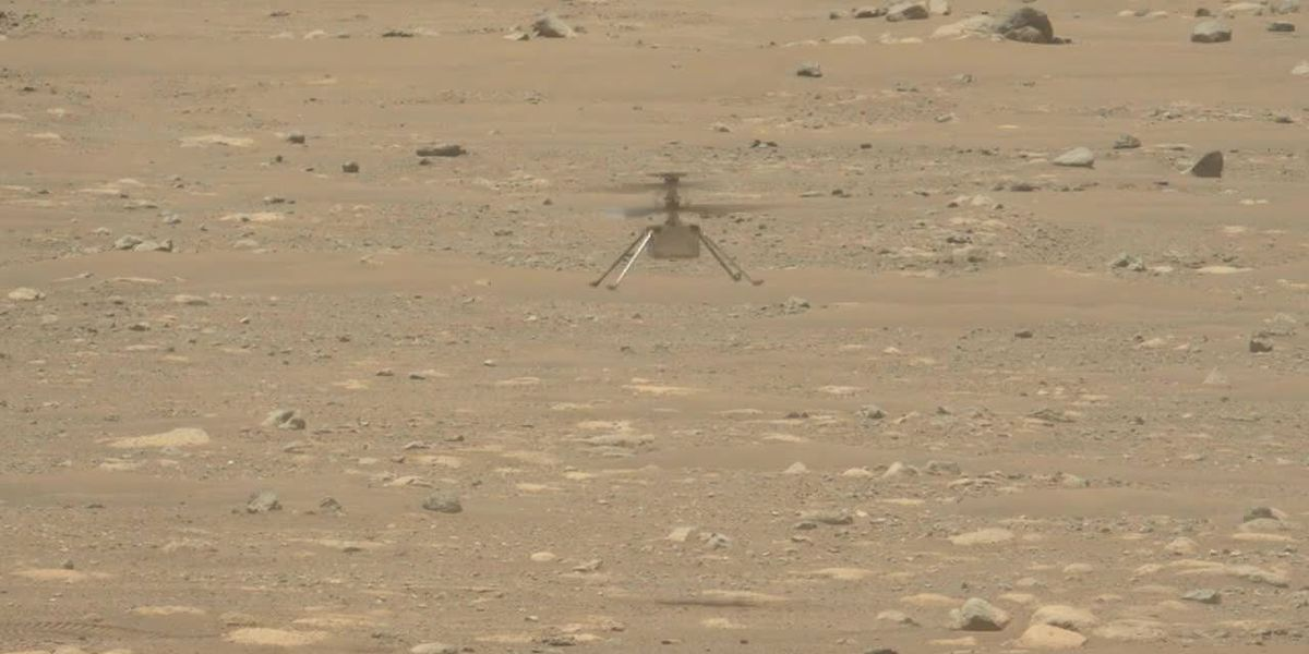NASA's Ingenuity helicopter takes off and lands on Mars