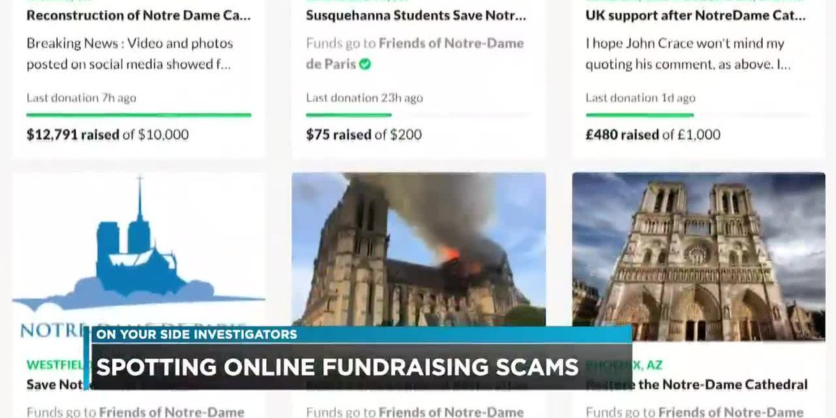 Spotting online fundraising scams