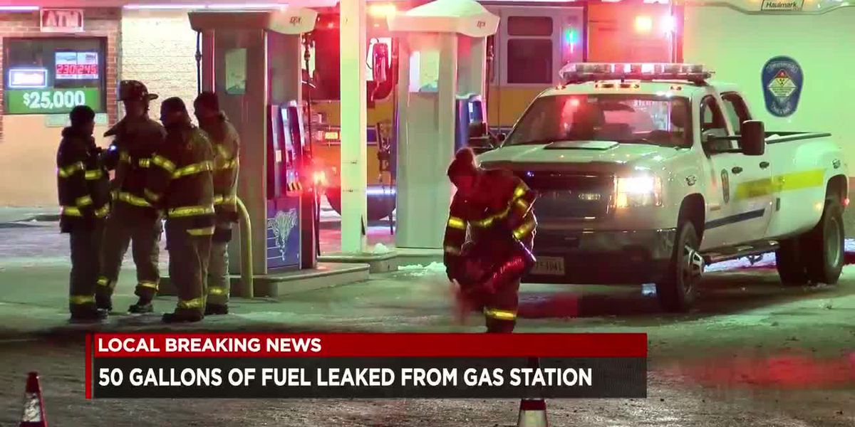 Crews responding to leak at Chesterfield gas station