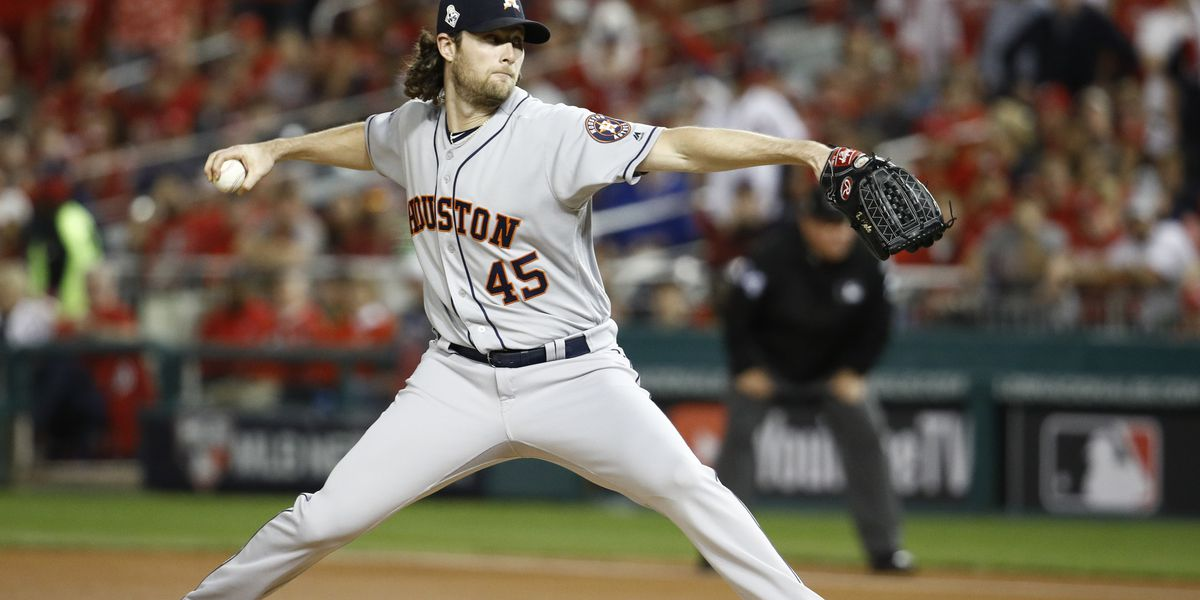 Cole pitches Astros to 3-2 Series lead over Nats